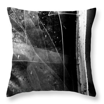 Broken Glass Window Throw Pillow