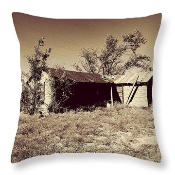 Broken Homestead Throw Pillow