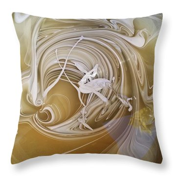 Broken Neck Flamingo Throw Pillow