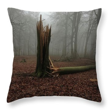Broken Oak Throw Pillow