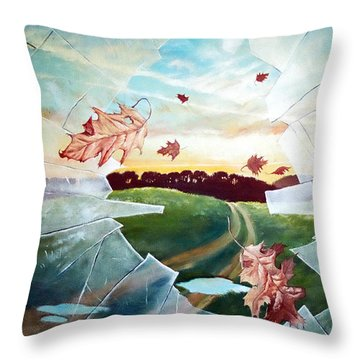 Broken Pane Throw Pillow