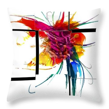 Broken Pattern By Nico Bielow Throw Pillow