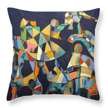 Throw Pillow featuring the painting Broken Promises Last Forever by Bernard Goodman