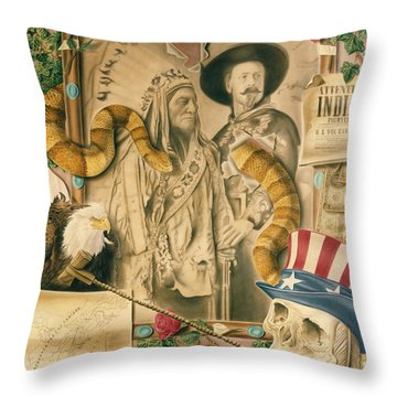 Broken Promises Throw Pillow