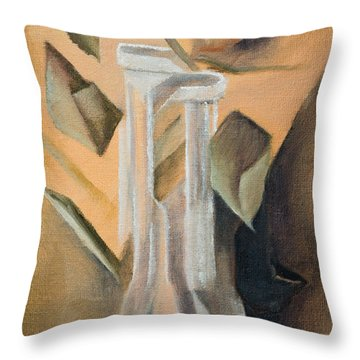 Broken Rose Throw Pillow