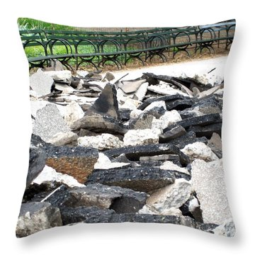 Throw Pillow featuring the photograph Broken Sidewalk by Lola Connelly