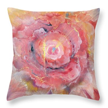 Broken Spirit Rose Throw Pillow