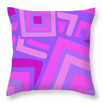 Broken Squares Throw Pillow