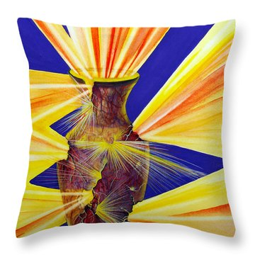 Broken Vessel Throw Pillow