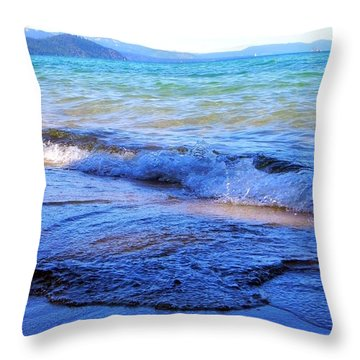 Broken Waves Throw Pillow by Leah Moore