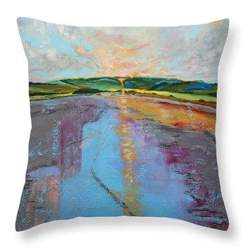Broken Words Throw Pillow by Sue Furrow