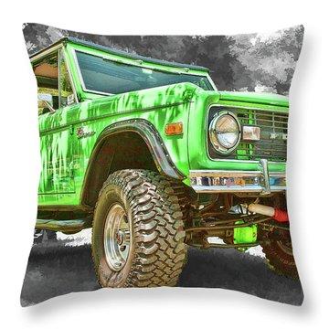 Bronco 1 Throw Pillow