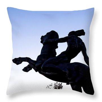 Bronco Throw Pillow