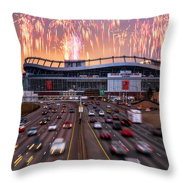 Broncos Win Afc Championship Game 2016 Throw Pillow