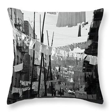Bronx Laundry Day 1936 Throw Pillow