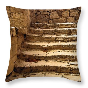 Bronze Age Stairs Throw Pillow