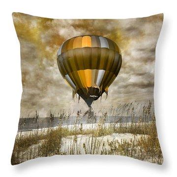 Bronze Beach Ballooning Throw Pillow by Betsy Knapp