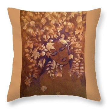 Bronze Beauty Throw Pillow