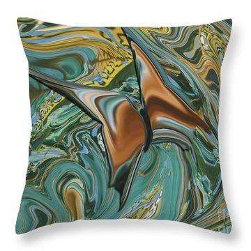 Bronze Butterfly Throw Pillow