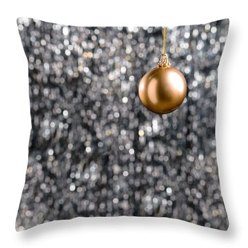 Throw Pillow featuring the photograph Bronze Christmas  by Ulrich Schade