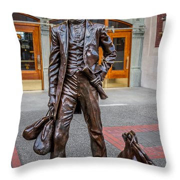 Bronze Sculpture New Beginnings Throw Pillow