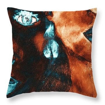 Bronze Sisters Painting Throw Pillow