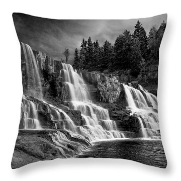 Brooding Gooseberry Falls Throw Pillow