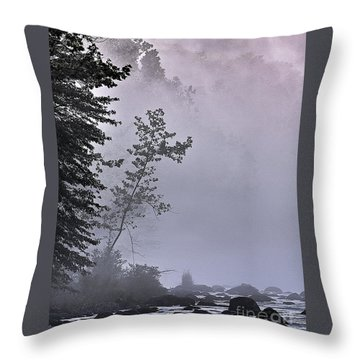 Brooding River Throw Pillow