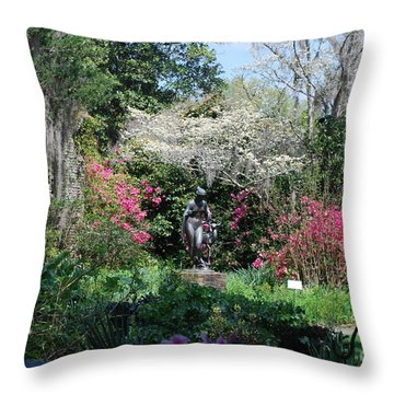 Brookgreen Gardens 2 Throw Pillow by Gordon Mooneyhan