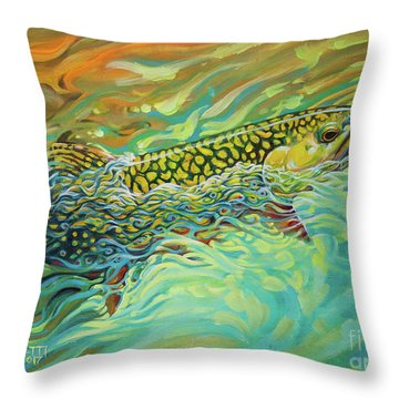 Brookie Flash Rework Throw Pillow