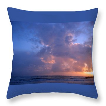 Brookings Oregon Sunset 02 Throw Pillow