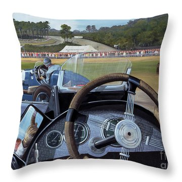Brooklands From The Hot Seat  Throw Pillow by Richard Wheatland
