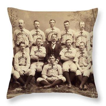 Brooklyn Bridegrooms Baseball Team Throw Pillow
