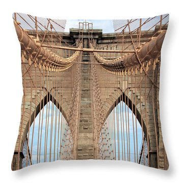 Throw Pillow featuring the photograph Brooklyn Bridge 2  by Emmanuel Panagiotakis