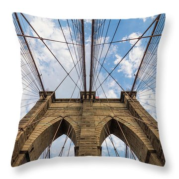 Throw Pillow featuring the photograph Brooklyn Bridge 3 by Emmanuel Panagiotakis