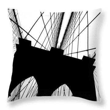Brooklyn Bridge Architectural View Throw Pillow