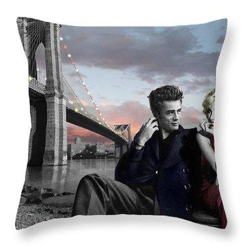 Brooklyn Bridge Throw Pillow by Chris Consani