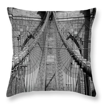 Throw Pillow featuring the photograph Brooklyn Bridge by Emmanuel Panagiotakis