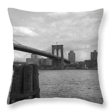 Brooklyn Bridge  Throw Pillow by Henri Irizarri