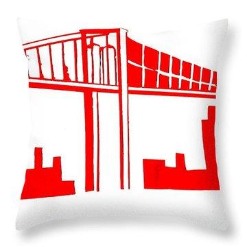 Brooklyn Bridge Throw Pillow by Michael Grubb