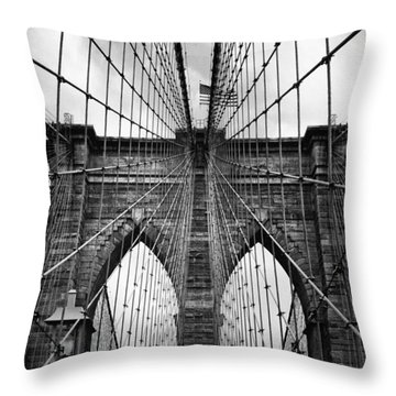 Brooklyn Bridge Mood Throw Pillow