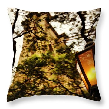 #brooklyn #bridge #nyc #newyork #light Throw Pillow by Gary Sumner