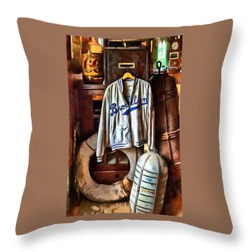 Throw Pillow featuring the photograph Brooklyn Dodgers Baseball  by Thom Zehrfeld