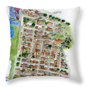 Brooklyn Heights Map Throw Pillow