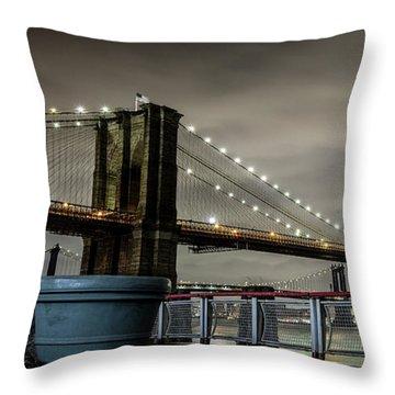 Brooklyn Manhattan Dockside Throw Pillow