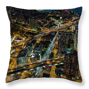 Brooklyn Nyc Infrastructure Throw Pillow by Susan Candelario