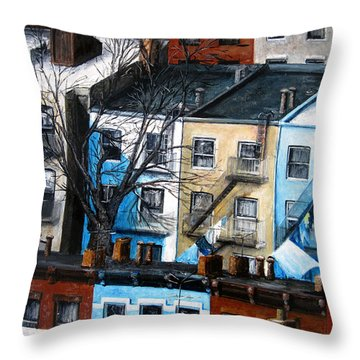 Brooklyn Rooftops Throw Pillow