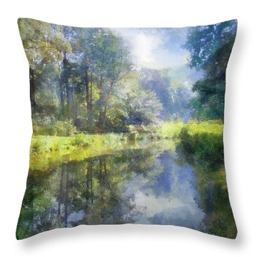 Throw Pillow featuring the digital art Brookside by Francesa Miller