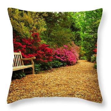 Brookside Gardens Throw Pillow by Olivia Hardwicke