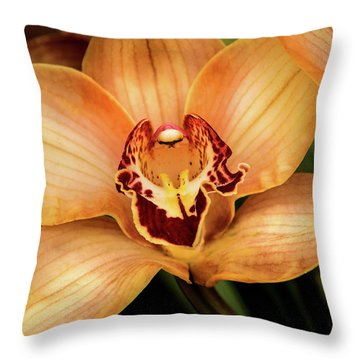 Brookside Orchid Throw Pillow